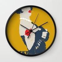 rocky horror Wall Clocks featuring Rocky Horror by Alec Goss
