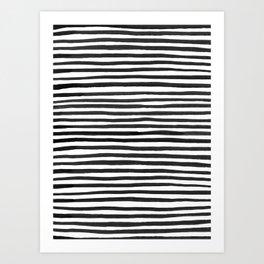 Ink Stripes Pattern Art Print