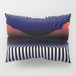 What's At The End of The Tunnel - Surrealistic Optical Illusion Art Pillow Sham