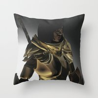 skyrim Throw Pillows featuring Skyrim Armor by J.A.C