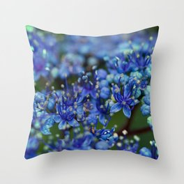 The Indigo Flower Soft Focus  #decor #society6 #buyart Throw Pillow