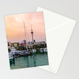 Sunset in Auckland Stationery Cards
