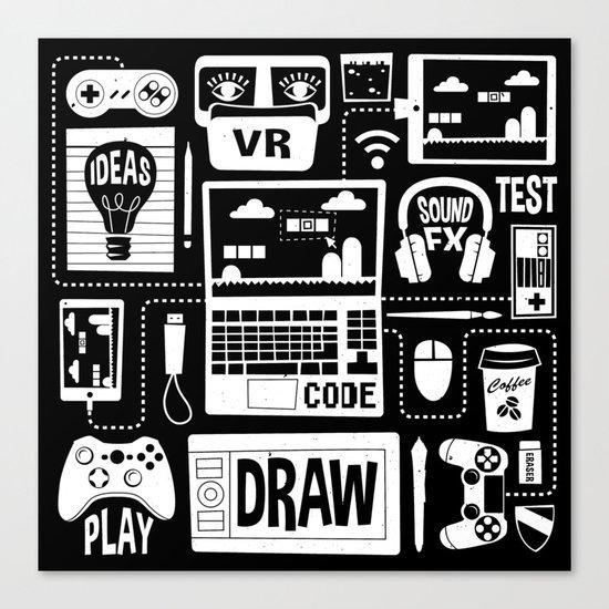 It's a Game Dev World Canvas Print