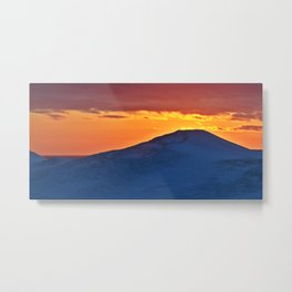 Sunset Behind the Snowdrift Metal Print