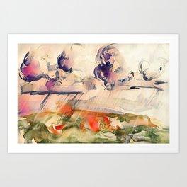 Stormy Landscape Purple Orange by CheyAnne Sexton Art Print