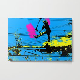 Tailgating - Stunt Scooter Tricks Metal Print