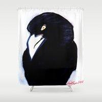 raven Shower Curtains featuring RAVEN  by Matt Schiermeier