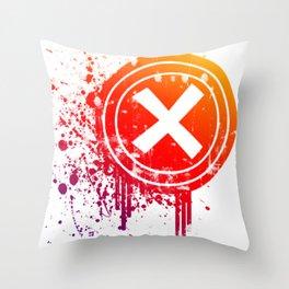 X vector Throw Pillow