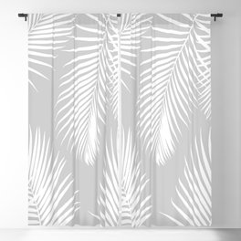 Gray Tropical Pattern Blackout Curtain