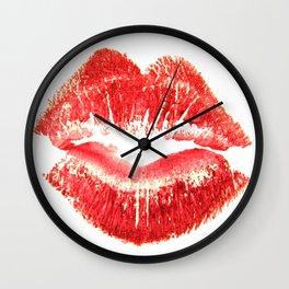 Gentle Kiss Goodnight Wall Clock