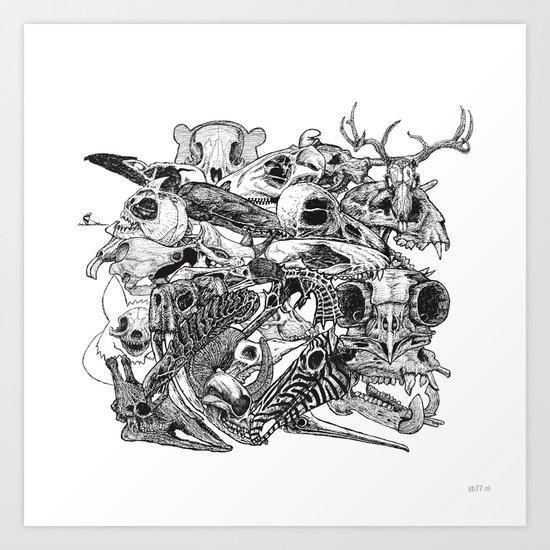 Animal Skulls Art Print