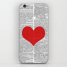 """Heart"" Dictionary Page – Original Digital Art Print iPhone Skin"