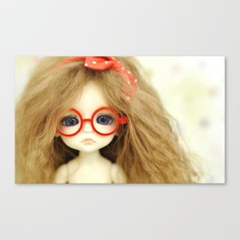 Red Glasses Canvas Print