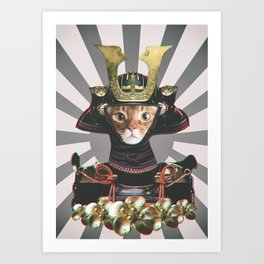 Samurai Cat Art Print