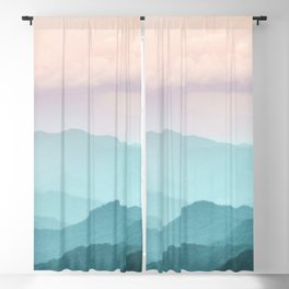 Smoky Mountain National Park Sunset Layers II - Nature Photography Blackout Curtain