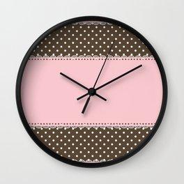 Pink Lace Wall Clock