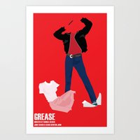 grease Art Prints featuring Grease by Jake Newton