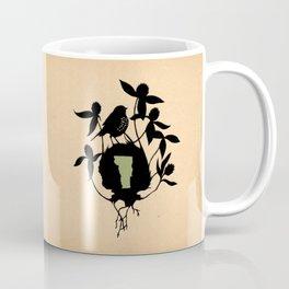 Vermont - State Papercut Print Coffee Mug