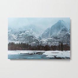 Frozen Yosemite Valley Metal Print