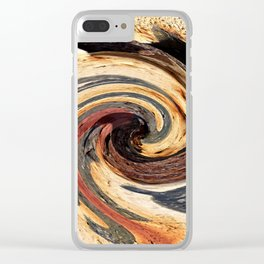 Swirl 07 - Colors of Rust / RostArt Clear iPhone Case