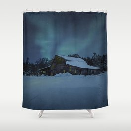 Winter finds out what summer lays up. Shower Curtain