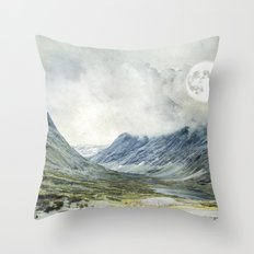 Supermoon in Norway Throw Pillow