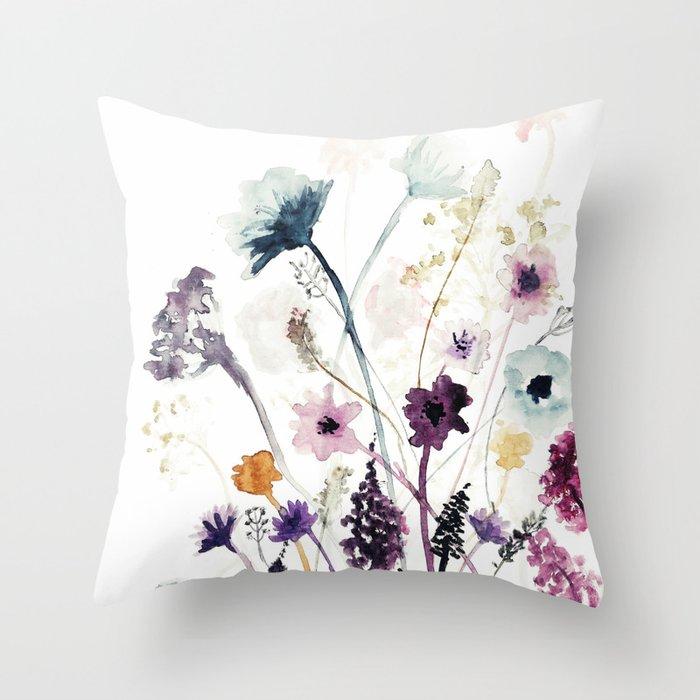 Wild Flowers Throw Pillow By Shyyboyy Society6