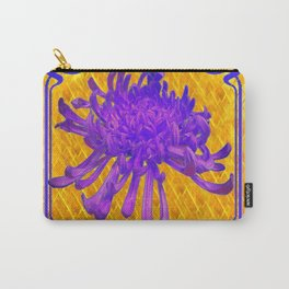 PURPLE SPIDER MUM ON GOLD PATTERN Carry-All Pouch
