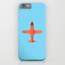 X-1 Mach Buster Rocket Aircraft - Orange Sky iPhone Case