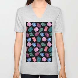 Low poly crystal pattern 1 Unisex V-Neck