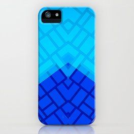 Blue Brick Two Tone Pattern iPhone Case