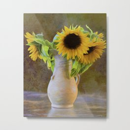 It's What Sunflowers Do - Flower Art Metal Print