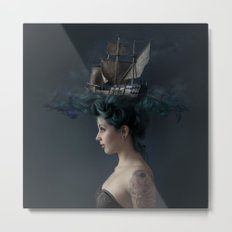 Sailing - Blue Metal Print