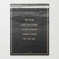 salt water Canvas Prints featuring Salt Water by Galaxy Eyes