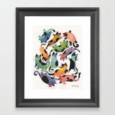 12 cats Framed Art Print