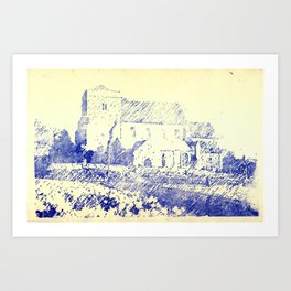St Andrew Church Steyning England Art Print