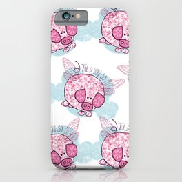 """Pigs might fly"" iPhone Case"