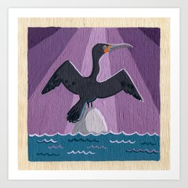 Air Cormorant Art Print