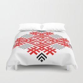 Rodimich - Antlers - Slavic Symbol #1 Duvet Cover