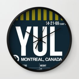 YUL Montreal Luggage Tag 1 Wall Clock
