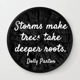 Storms make trees take deeper roots Wall Clock