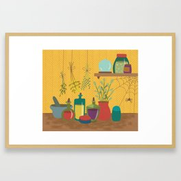 Witch Ingredients Framed Art Print