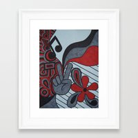 60s Framed Art Prints featuring 60s Vibe by Tanya Thomas