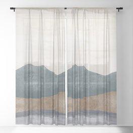 Abstract Watercolor XVI Sheer Curtain