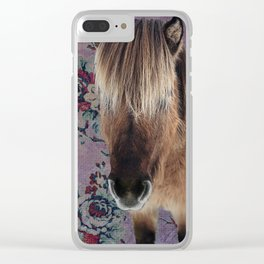 floral Icelandic pony Clear iPhone Case
