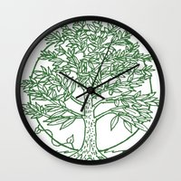 coasters Wall Clocks featuring Forest Lover's Tree by KimberlyVautrin