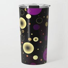 Circles with black Travel Mug
