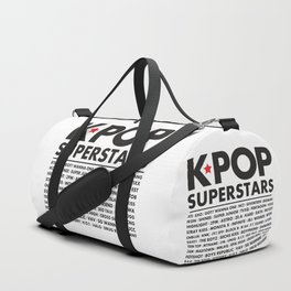 KPOP Superstars Original Boy Groups Merchandse Duffle Bag