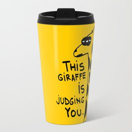 Judging Giraffe Travel Mug