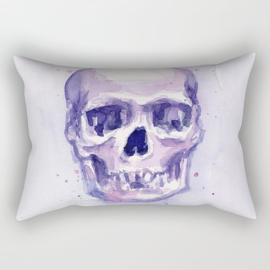 Skull Watercolor Skulls Rectangular Pillow